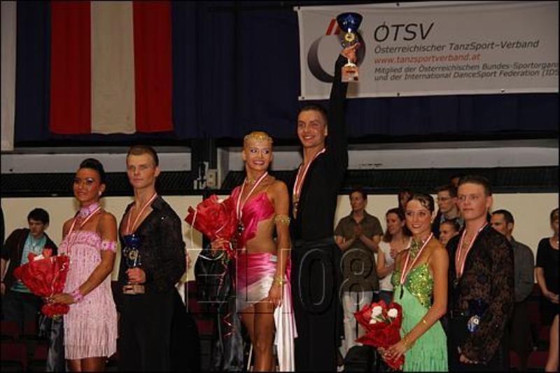 1st place - Vladimir Slon & Bianka Zubrowska, 2nd place - Vadim Garbuzov & Zsofia Kovalik, 3rd place - Markus Hackl & Stefanie Krausz, 4th - Simon Schmidt and Maria Gramatikova, Thomas Wimmer and Christiana Leuthner, 6th - Wilhelm Gabalier & Barbara Koitz