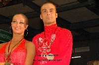 Franco Formica &amp; Oxana Lebedew at WDC World Professional Latin Championships