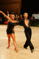 Sonny Jin Zhang & Cher Wen Qingluo at UK Open 2008