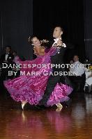 Michael Glikman & Milana Deitch at WDCAL Luna Park Ballroom Dancing Championship