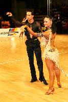 Andrea Silvestri & Martina Váradi at IDSF Győr Open 2008 Austrotherm Cup