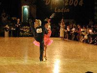 Peter Stokkebroe & Kristina Stokkebroe at Danish Latin Championships