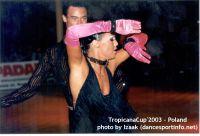 Sergey Sourkov & Agnieszka Melnicka at Tropicana Cup 2003