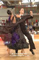 Alexis Bergeon & Johanna Rivier at 2012 WDSF EUROPEAN DanceSport Championships Standard