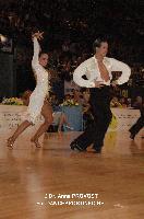 Andrea Silvestri & Martina Váradi at Marseille IDSF Open and European Latin Championship