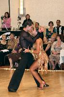Valentin Chmerkovskiy & Valeriya Kozharinova at The Yankee Classic 2008