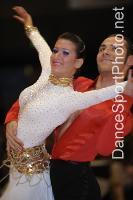 Michael Glikman & Milana Deitch at International Megastars DanceSport Festival