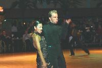 Mark Robertson & Luana Fanni at Dutch Open 2003