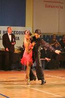 Dino Alic & Dina Imamovic at B&H National Latin Championships