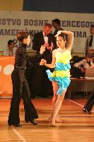 Enis Pajic & Nejla Asimovic at B&H National Latin Championships