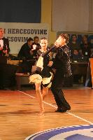 Adnan Kapo & Nejra Mirvic at B&H National Latin Championships