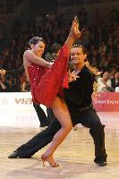 Justinas Duknauskas & Ekaterina Lapaeva at 2009 WDC European Latin Championship