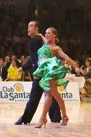 Franco Formica & Oxana Lebedew at 2009 WDC European Latin Championship